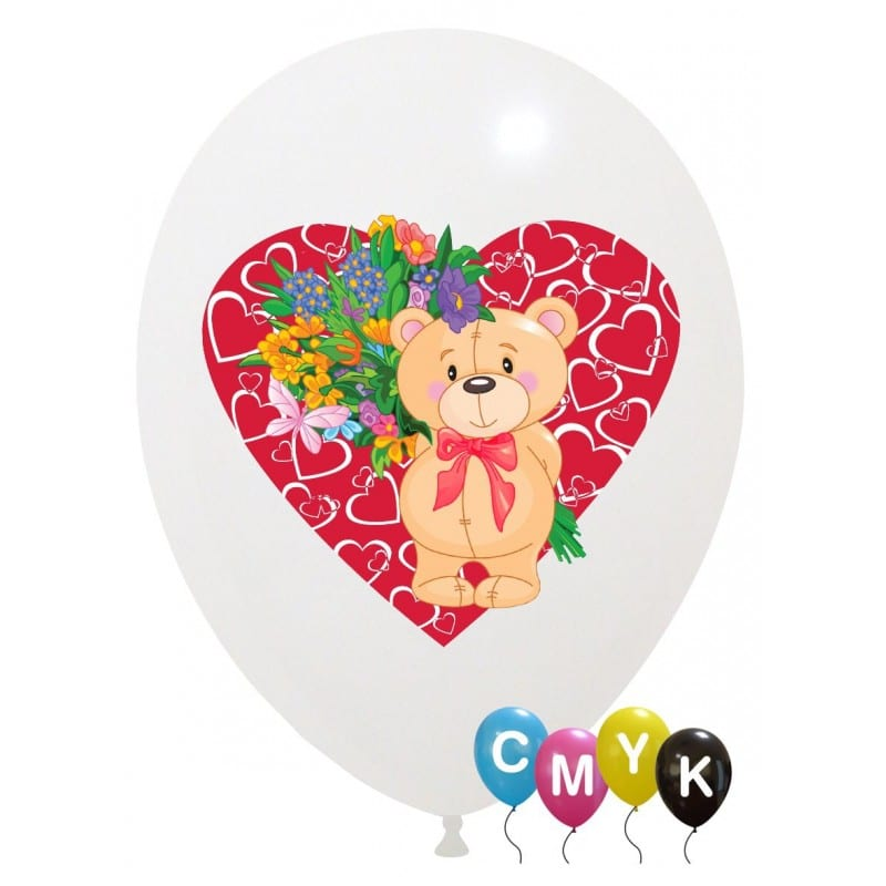 Palloncini amore - orsetto - full color (cmyk)