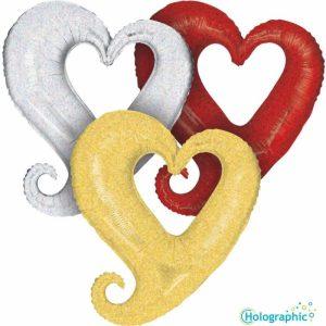 "Palloncini love Hollow Heart Olografico (37"")"