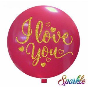Palloncini love Love You (Sparkle)