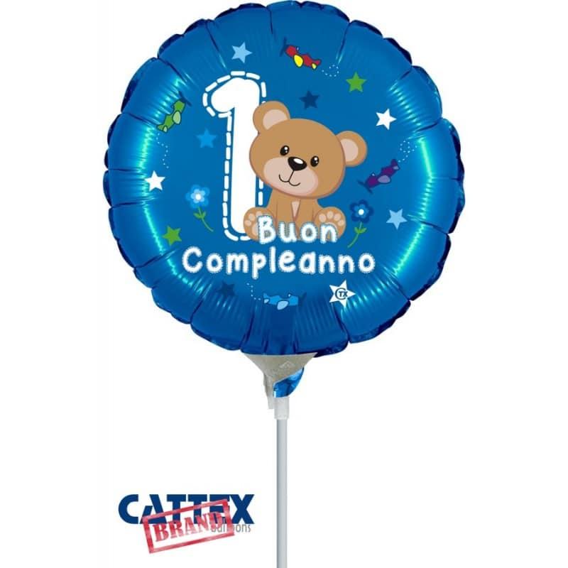 """Palloncini compleanno 1° Compleanno Orsetto Minishape (9"""")"""