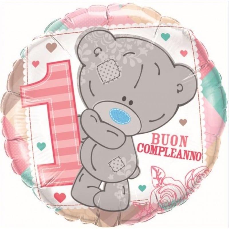 """Palloncini compleanno 1° Compleanno Teddy Bimba (18"""")"""