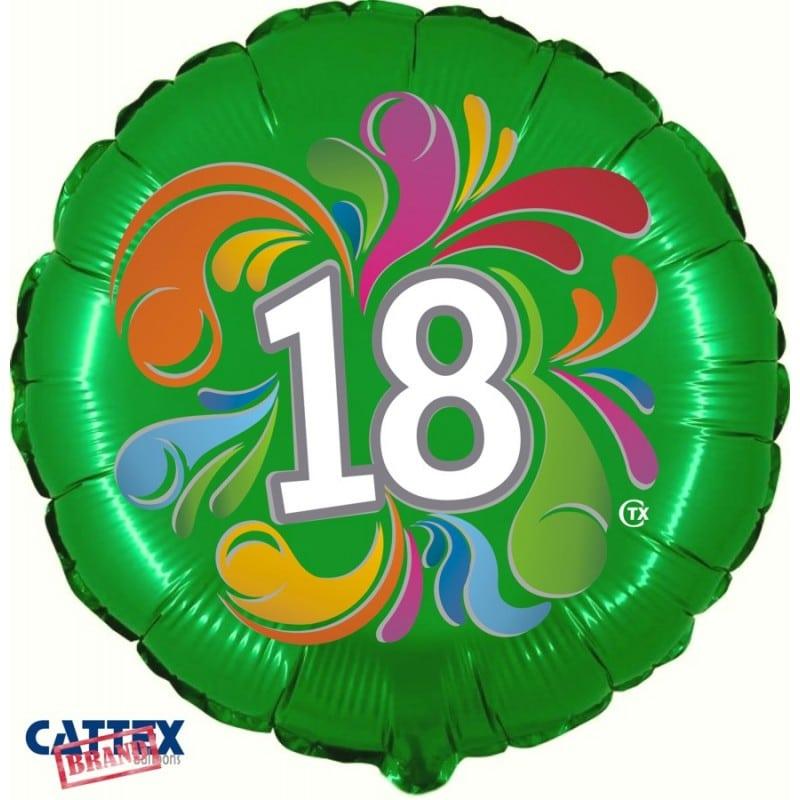 """Palloncini compleanno 18 Anni Colorato (18"""")"""