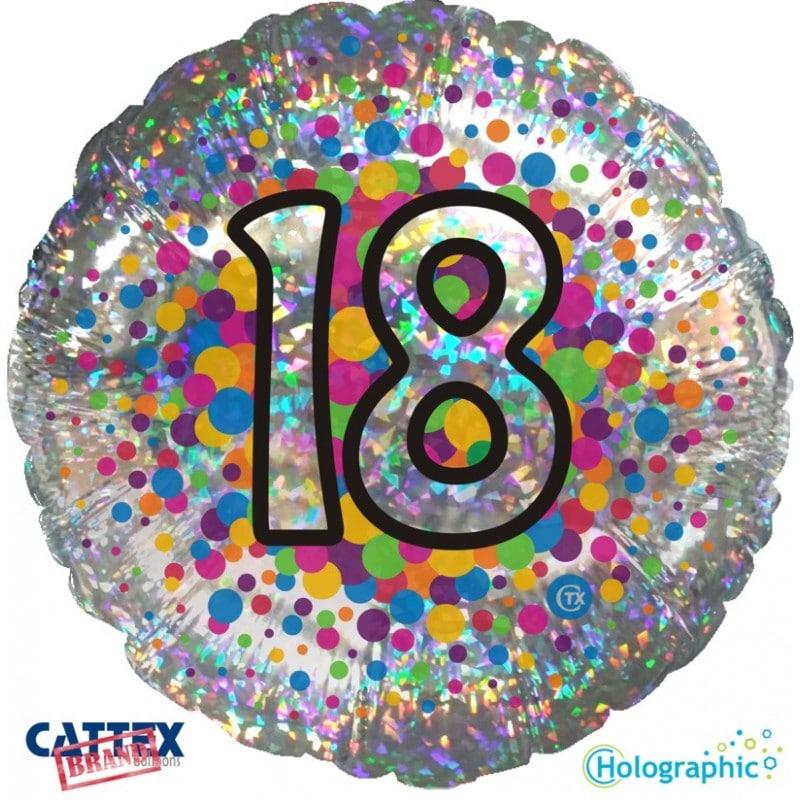 """Palloncini compleanno 18 Olografico (18"""")"""