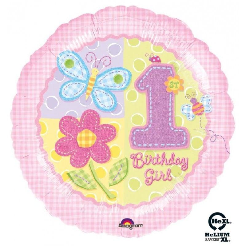 "Palloncini compleanno 1st Birthday Bimba HeXL® (18"")"