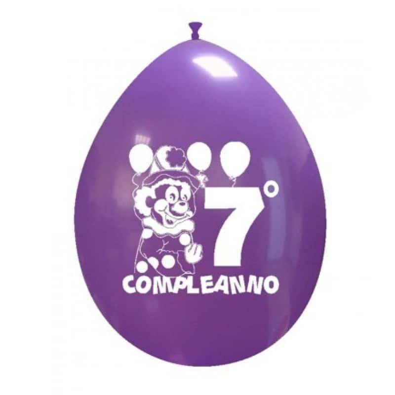 Palloncini compleanno 7° Compleanno