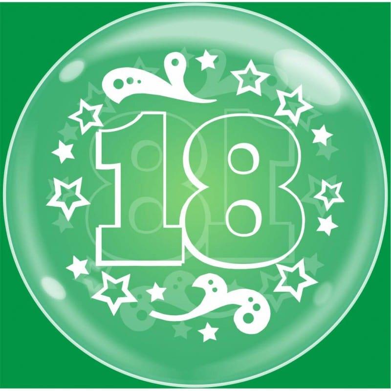 """Palloncini compleanno Bubble Party - 18 Anni (24"""")"""