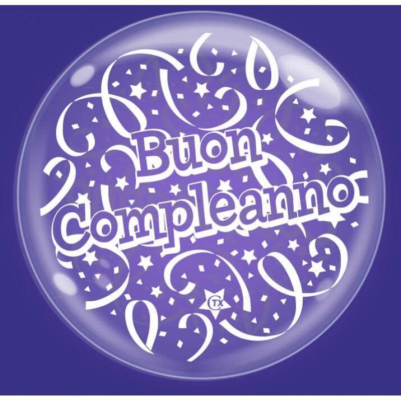 """Palloncini compleanno Bubble Party - Buon Compleanno (18"""")"""