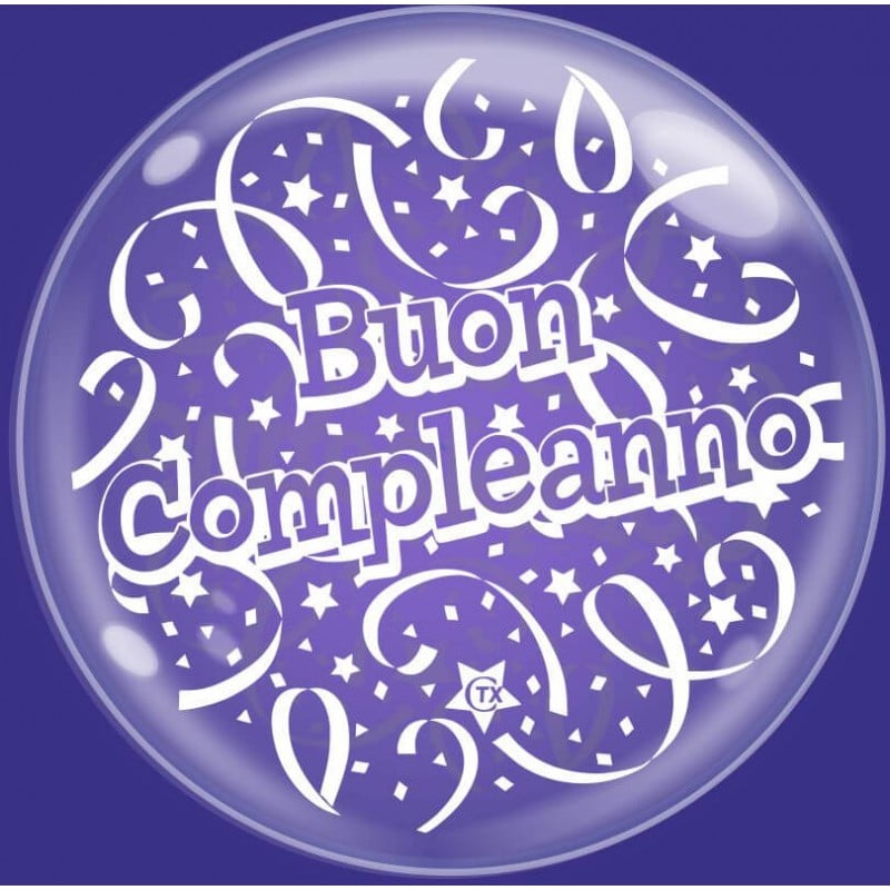 """Palloncini compleanno Bubble Party - Buon Compleanno (24"""")"""