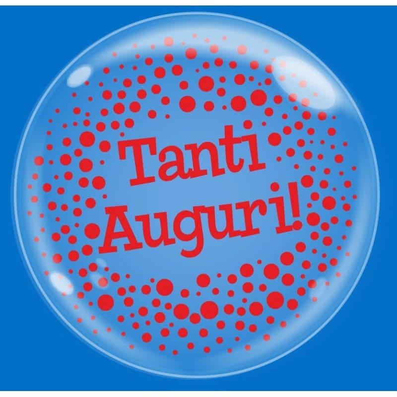 """Palloncini compleanno Bubble Party - Tanti Auguri (18"""")"""