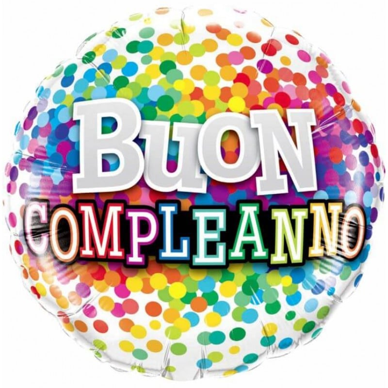 """Palloncini compleanno Buon Compleanno Coloratissimo (18"""")"""