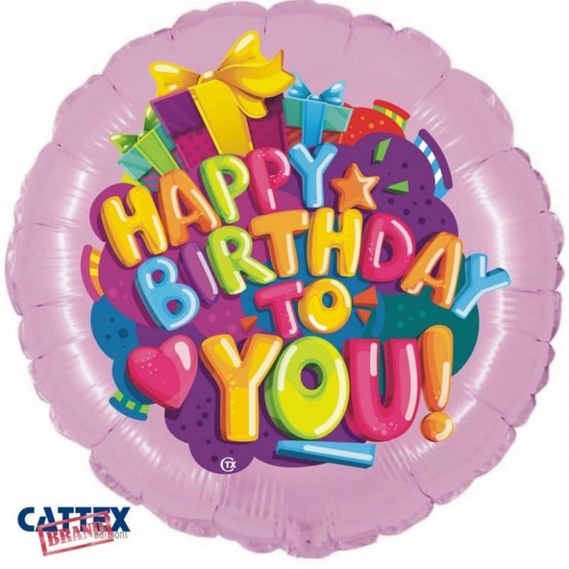 """Palloncini compleanno Buon Compleanno Cuoricino (18"""")"""