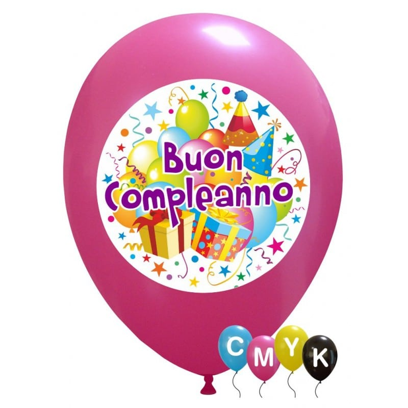 Palloncini compleanno Buon Compleanno - Full Color (CMYK)