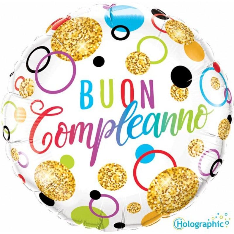 """Palloncini compleanno Buon Compleanno Multicolor (18"""")"""