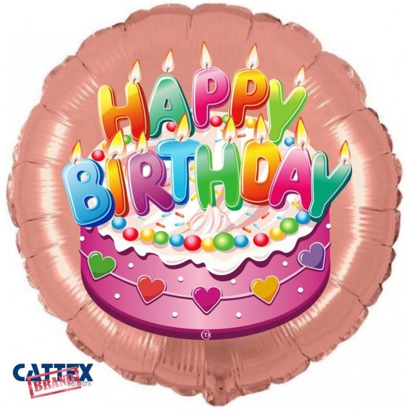 """Palloncini compleanno Buon Compleanno Rosa (18"""")"""