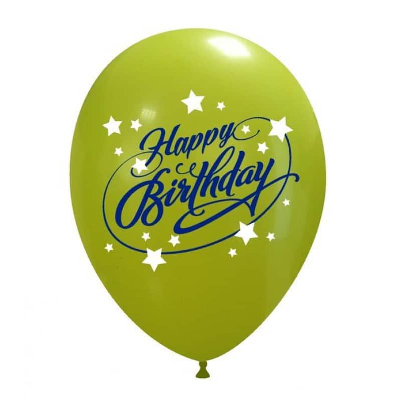 Palloncini compleanno Happy Birthday 2 Colori