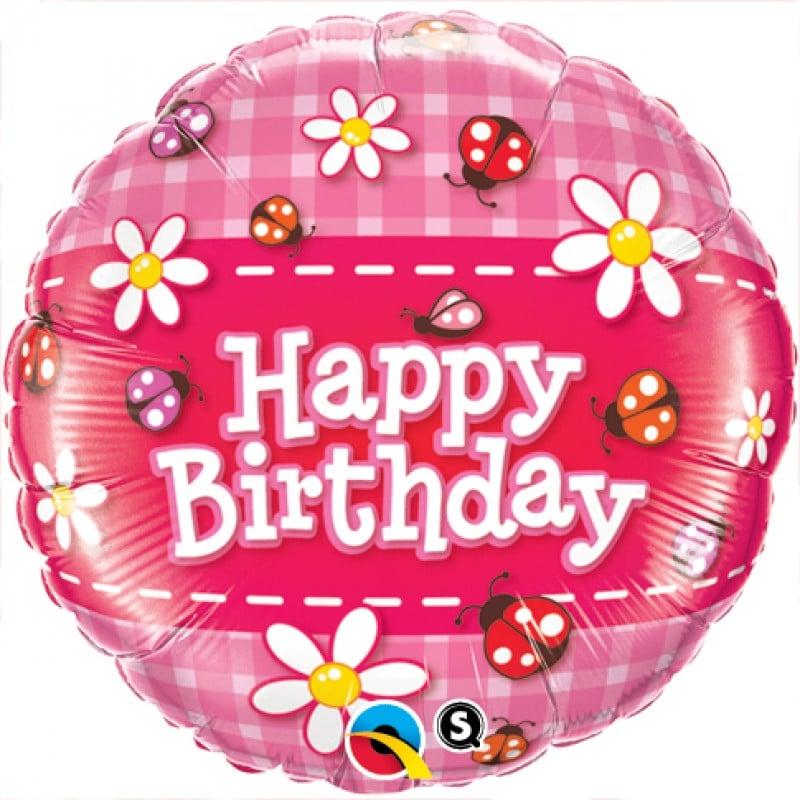 """Palloncini compleanno Happy Birthday Coccinelle (18"""")"""