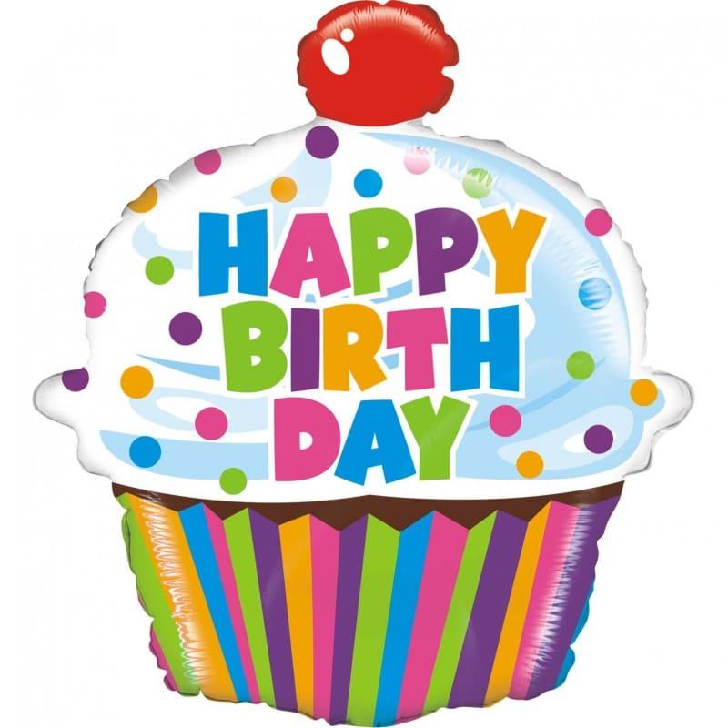 "Palloncini compleanno Happy Birthday Cupcake (30"")"