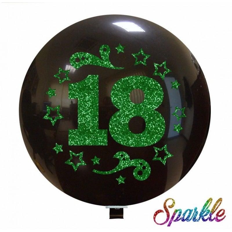 Palloncini compleanno Numero 18 (Sparkle)