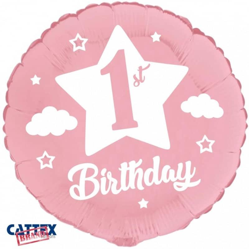 """Palloncini compleanno Primo Compleanno Rosa Baby (18"""")"""