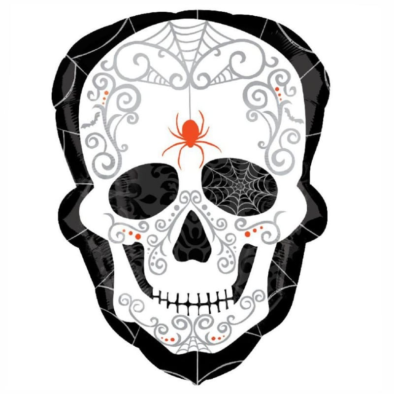 "Palloncini halloween Black and Bone (24"")"