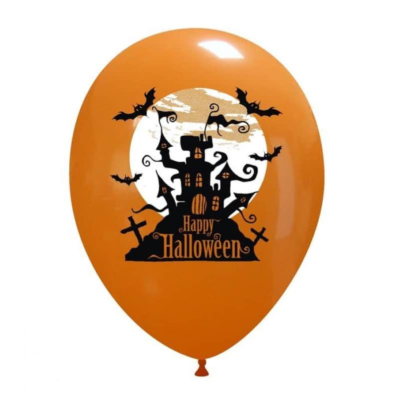 Palloncini halloween Casa con Luna 2 Colori