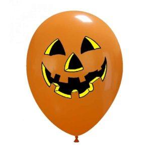 Palloncini halloween Faccia Zucca 2 Colori