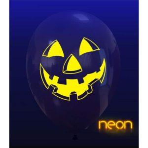 Palloncini halloween Faccia Zucca Neon