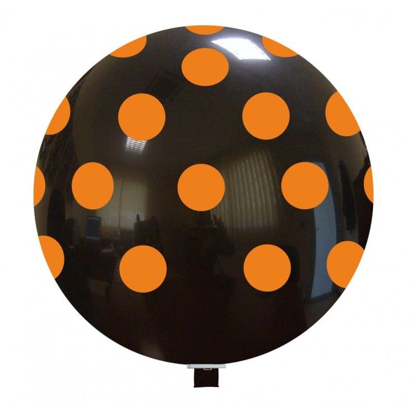Palloncini halloween Grande Pois Arancio