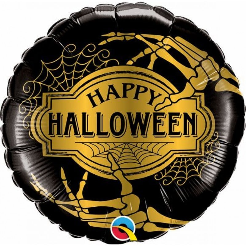 "Palloncini halloween Scheletro Dorato (18"")"