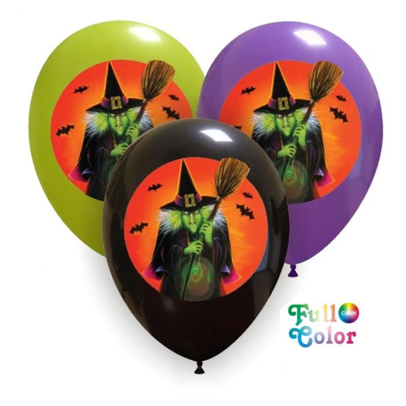 Palloncini halloween Strega - Full Color (CMYK)
