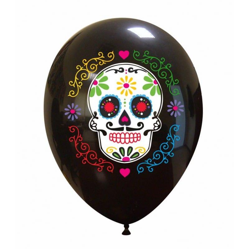 Palloncini halloween Sugar Skull (7 Colori)