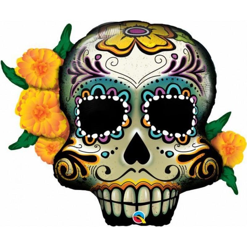 "Palloncini halloween Sugar Skull Supershape (38"")"