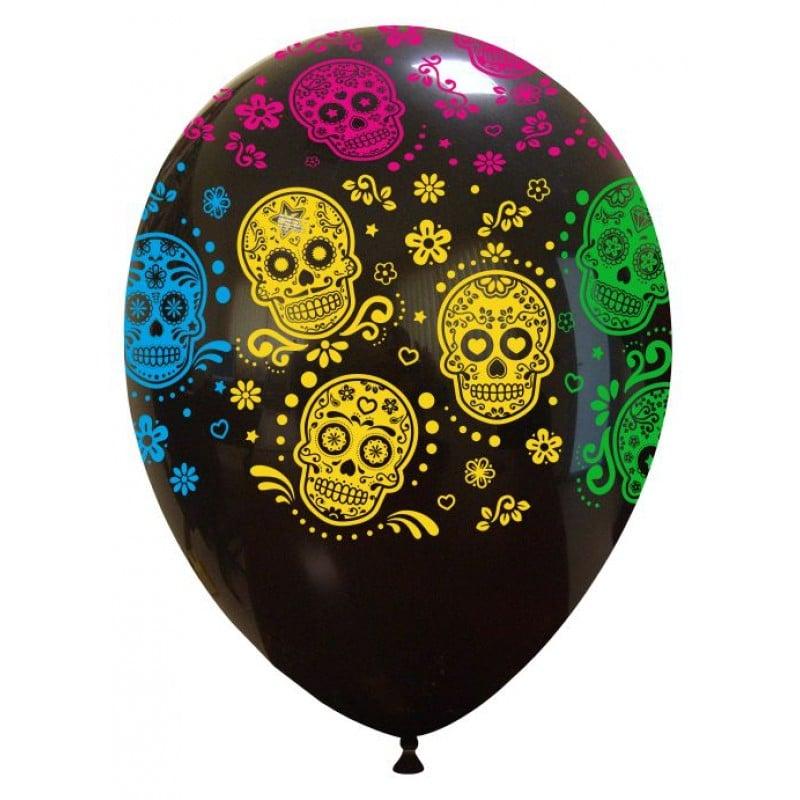 Palloncini halloween Sugar Skulls (Globo)