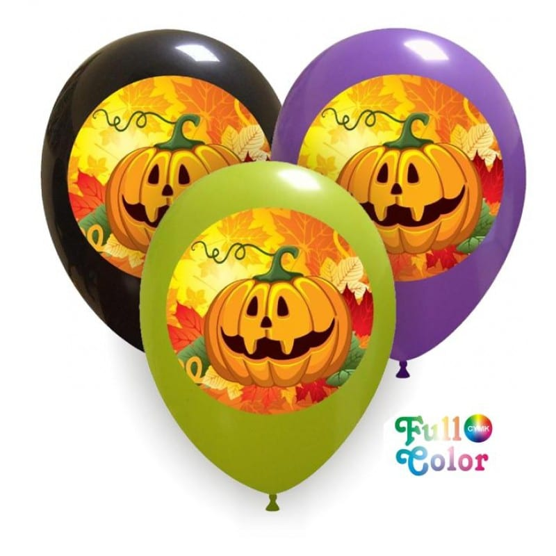 Palloncini halloween Zucca - Full Color (CMYK)