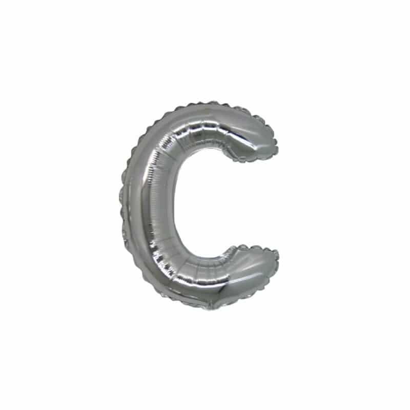 Palloncini lettere mylar piccole -Lettera C