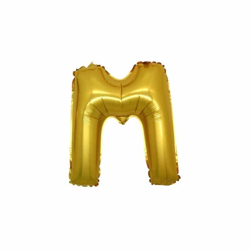 Palloncini lettere mylar piccole -Lettera M
