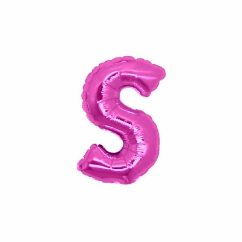 Palloncini lettere mylar piccole -Lettera S