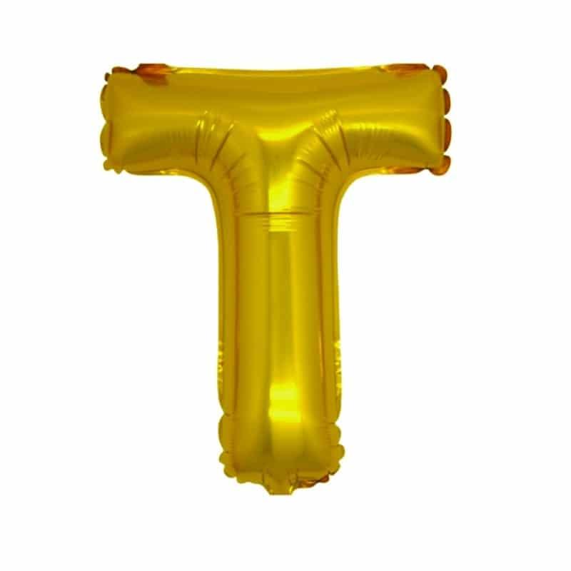 Palloncini lettere mylar medie -Lettera T
