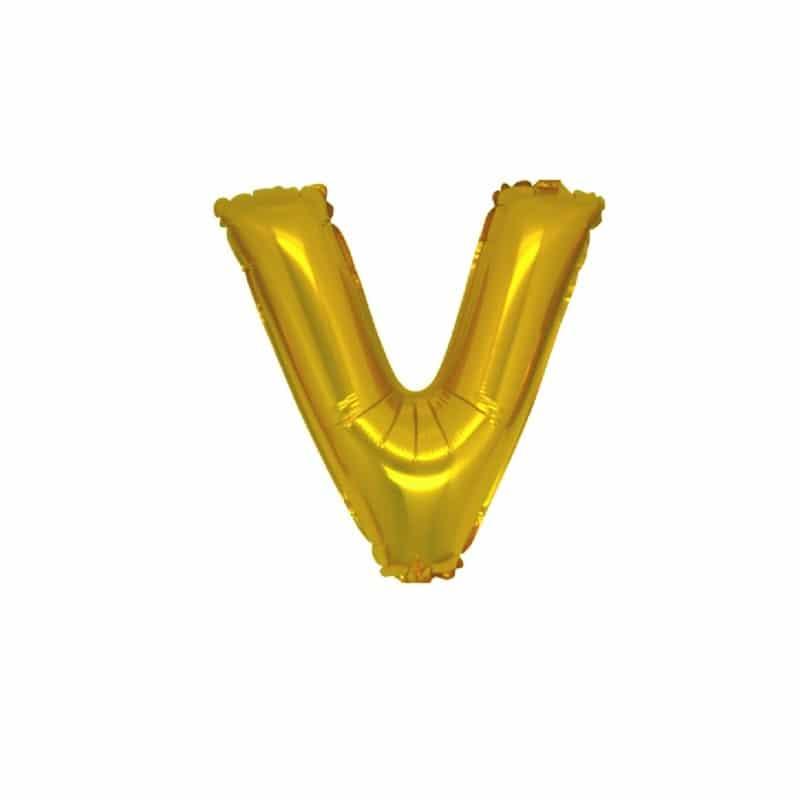 Palloncini lettere mylar piccole -Lettera V