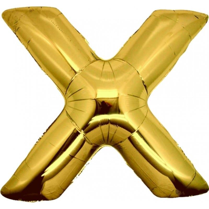Palloncini lettere mylar maxi -Lettera X