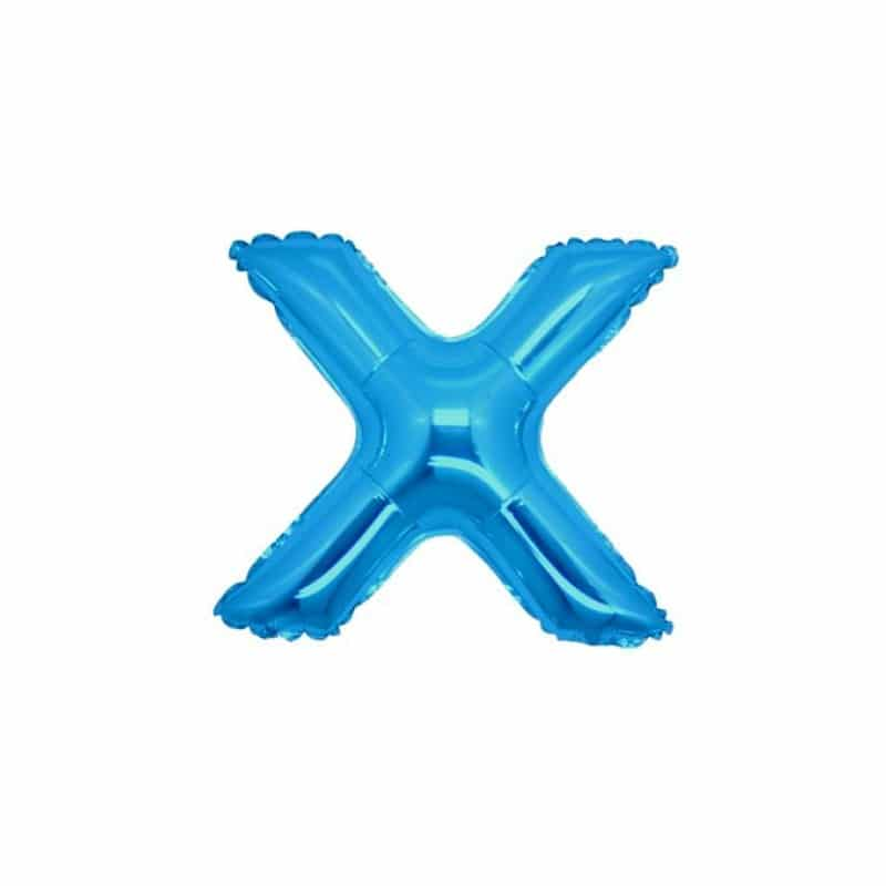 Palloncini lettere mylar piccole -Lettera X