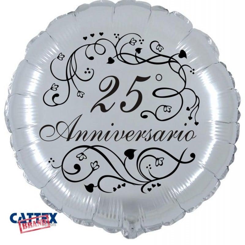 "Palloncini matrimonio 25° Anniversario (18"")"