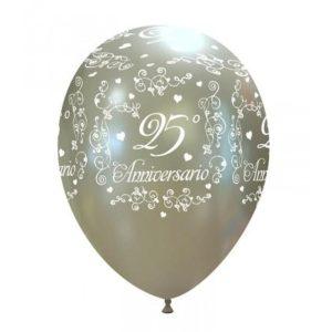 Palloncini matrimonio 25° Anniversario elegante