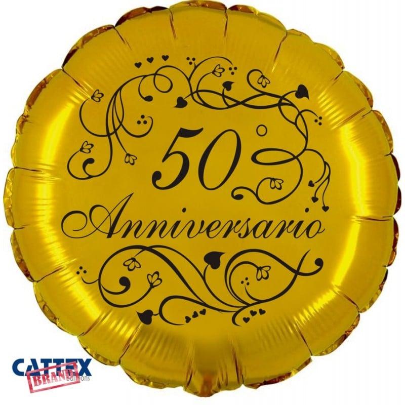 "Palloncini matrimonio 50° Anniversario (18"")"