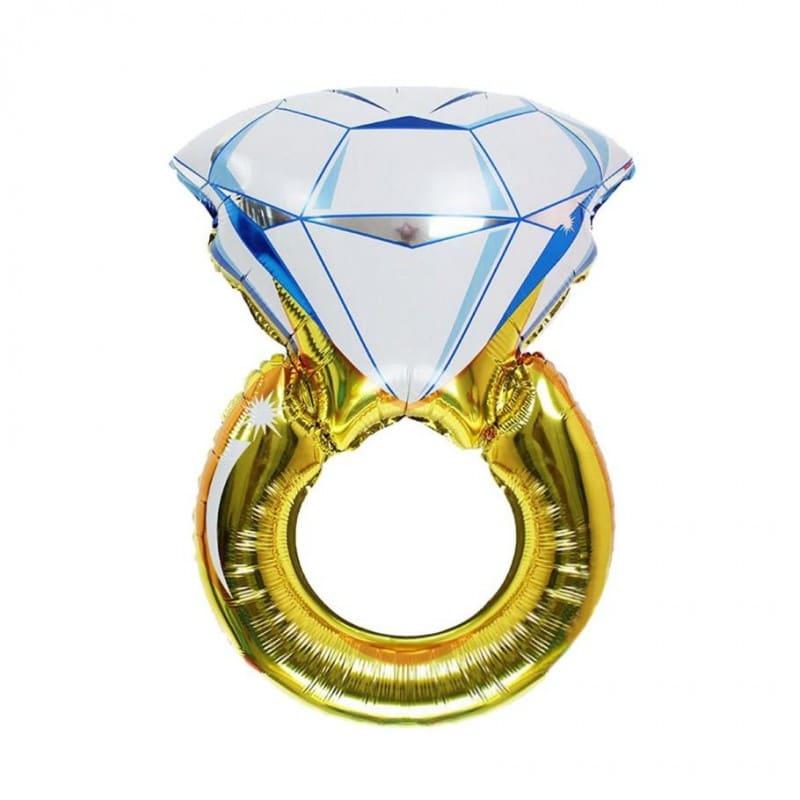 """Palloncini matrimonio Anello con Diamante (39"""")"""