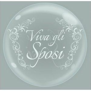 """Palloncini matrimonio Bubble Party - Viva Gli Sposi (18"""")"""