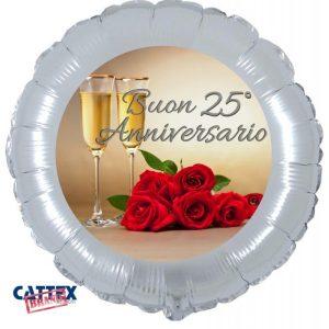 """Palloncini matrimonio Buon 25° Anniversario (18"""")"""