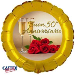 """Palloncini matrimonio Buon 50° Anniversario (18"""")"""