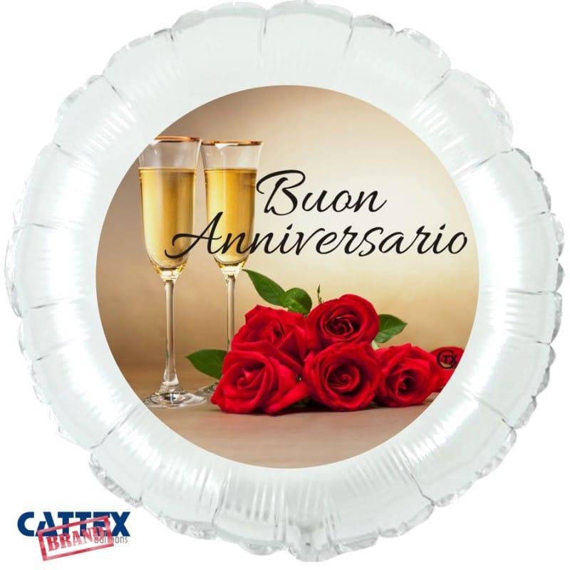 """Palloncini matrimonio Buon Anniversario (18"""")"""