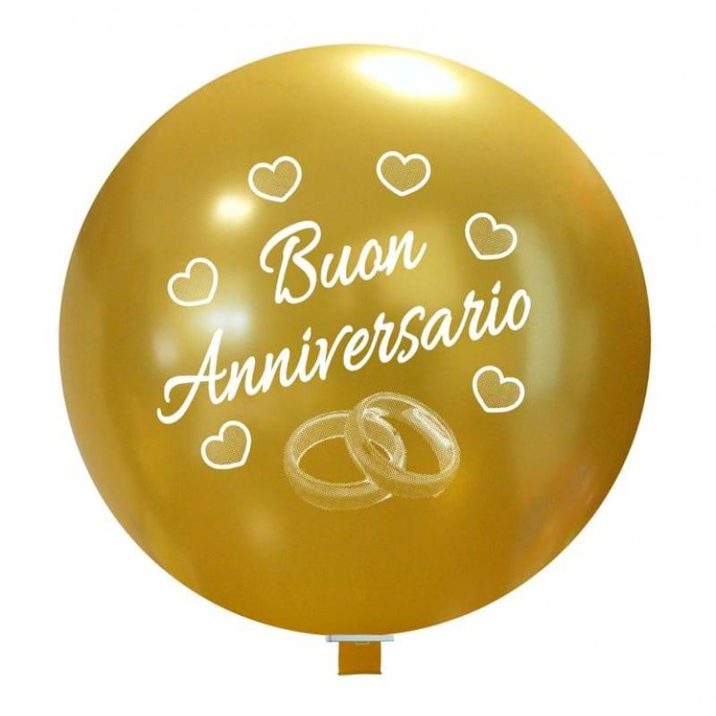 Palloncini matrimonio Buon Anniversario Anelli